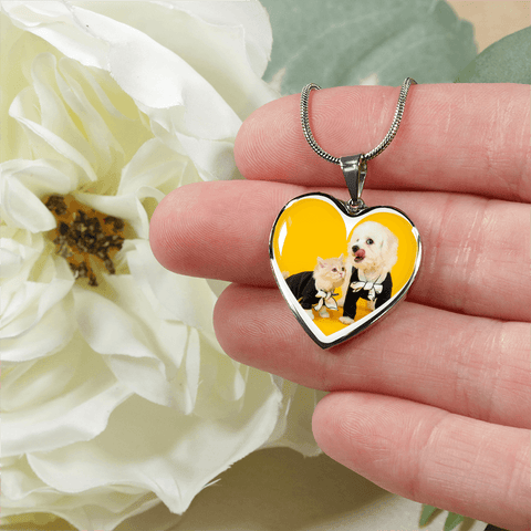 Oh, So Cute Cat&Dog Necklace Pendant