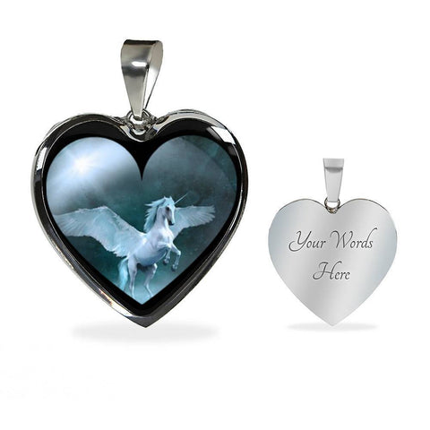 Image of Flying Unicorn Necklace