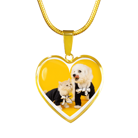 Image of Oh, So Cute Cat&Dog Necklace Pendant