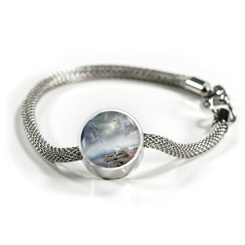 Image of Unicorn Silver Bracelet