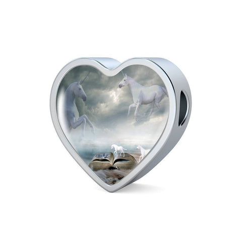 Image of Unicorn Heart Bracelet Charm