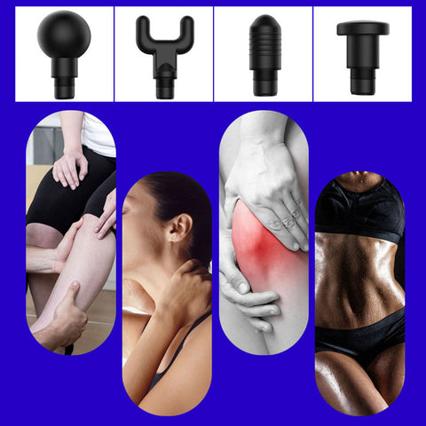 1200-3300r/min Electric Muscle Massage Gun Deep Tissue Massager Therapy Gun Exercising Muscle Pain Relief Body Shaping With Bag