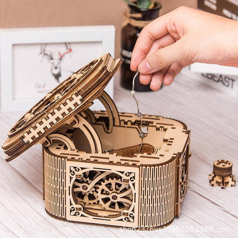 Image of DIY Wooden Mechanical Jewelry Box