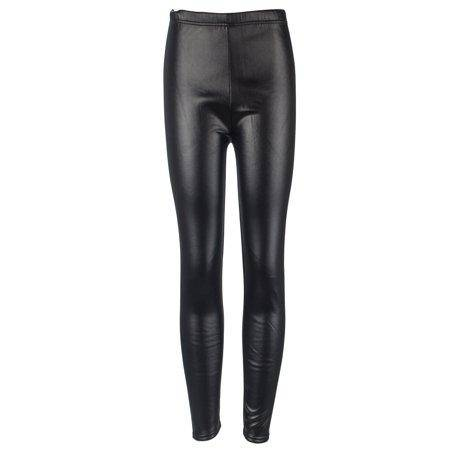 Winter Warm Faux Leather Leggings