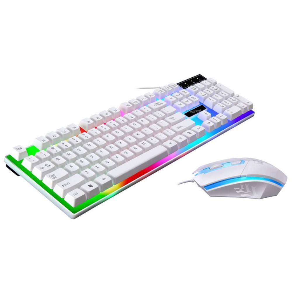 G21 LED Rainbow Color Backlight Gaming  Wired Keyboard