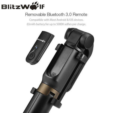 Image of Wireless Bluetooth  Mini Tripod  Selfie Stick