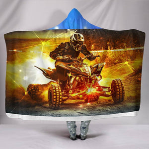 The Dirt Biker Hooded Blanket