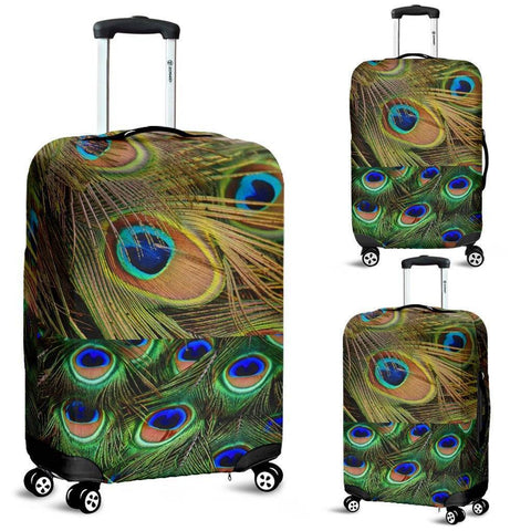 Image of PeaCock Feathers Suitcase Covers