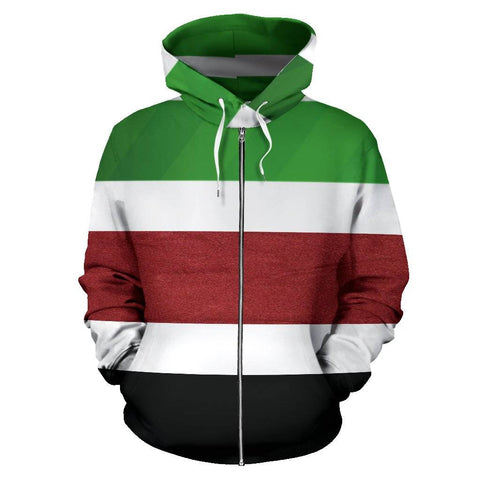 Image of The Zip Up Stripe Hoodie