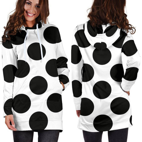Image of Polka Dot Hoodie Dress