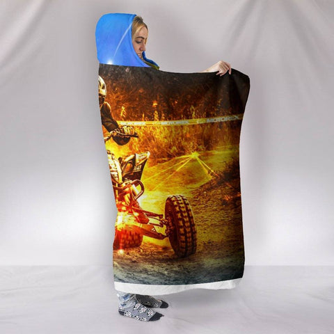 Image of The Dirt Biker Hooded Blanket