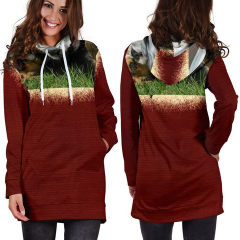 Women's Hoodie Red Dress