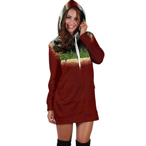 Image of Women's Hoodie Red Dress