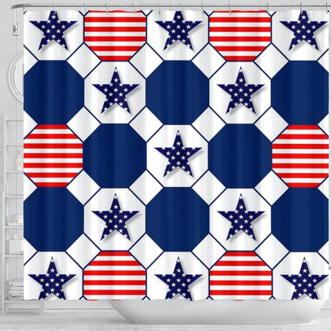 Image of Stars And Stripes Shower Curtain