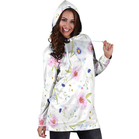 Image of Flowers Hoodie Dress