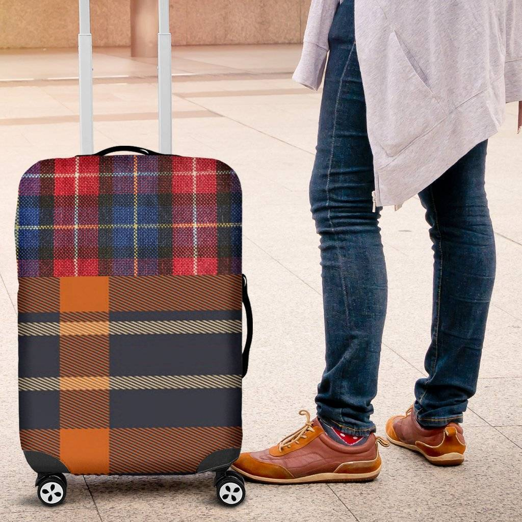 Plaid Luggage Cover