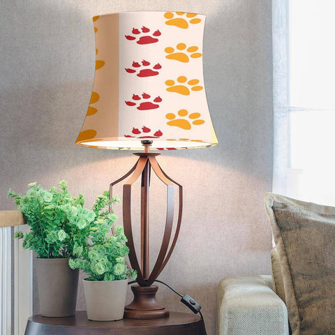 Dog Print Drum Lamp Shade