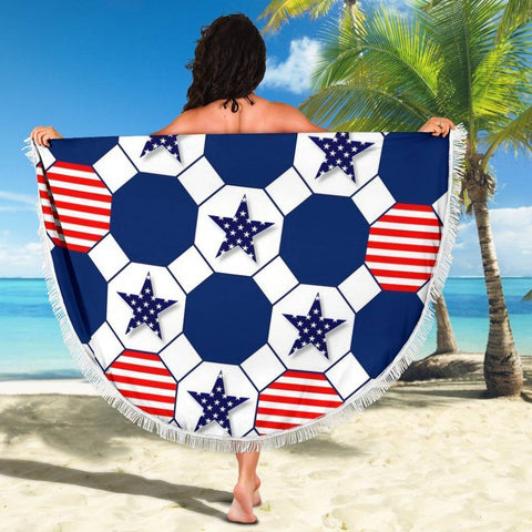 Image of Stars and Stripes Beach Blanket
