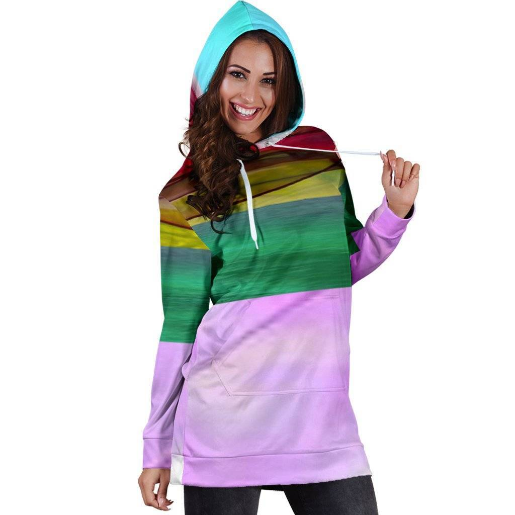 Women's Colorful Hoodie Dress