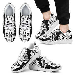 Seven Tribes Black with White Sopo Athletic Sneakers White Sole