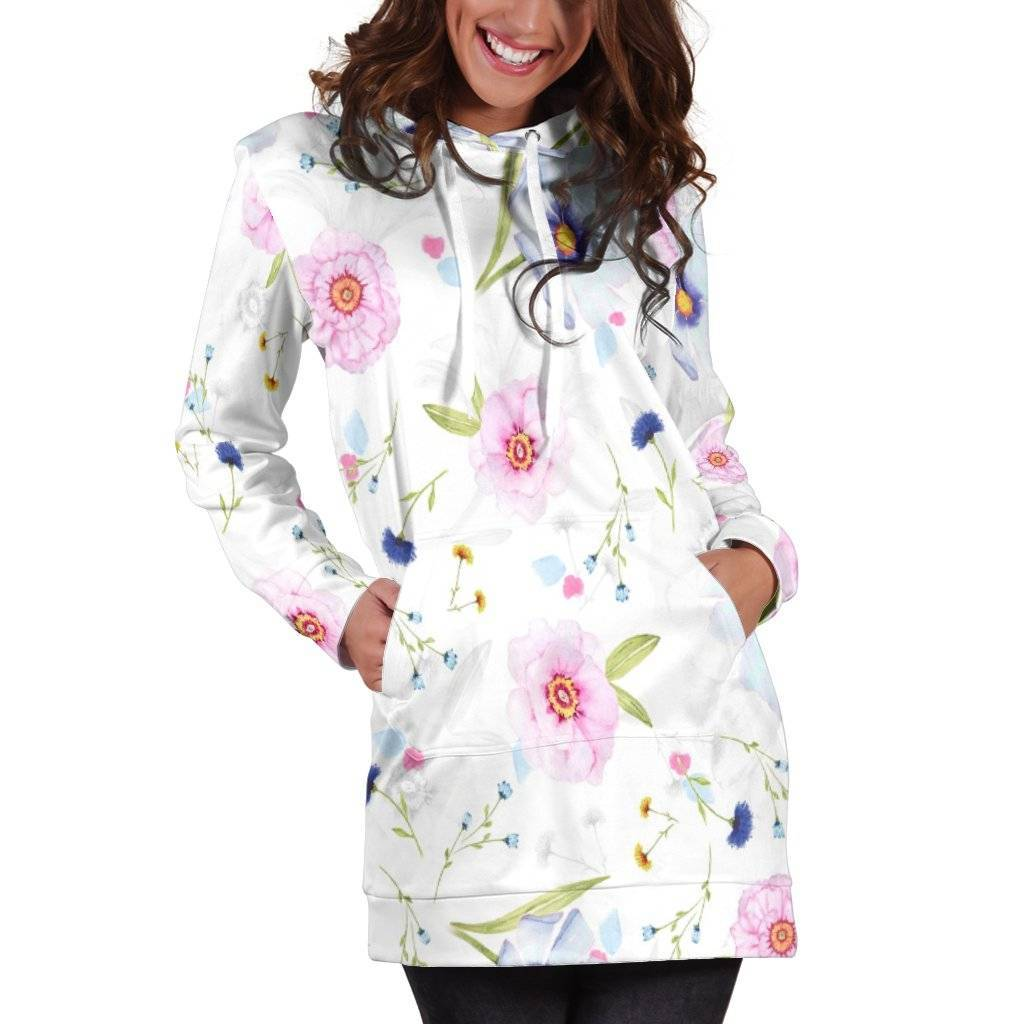 Flowers Hoodie Dress