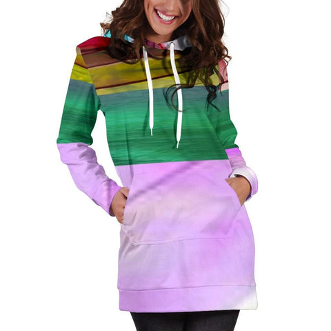 Image of Women's Colorful Hoodie Dress