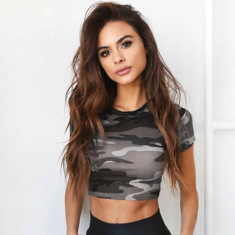 Out Sports Crop Top Running Sports Fitness Women T-shirt Gym Tank Top