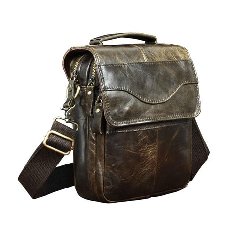 Men Quality Leather Casual  Shoulder bag