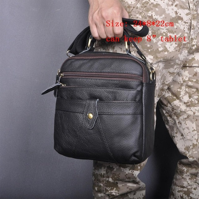 Quality Original Leather Male Casual Shoulder Messenger bag