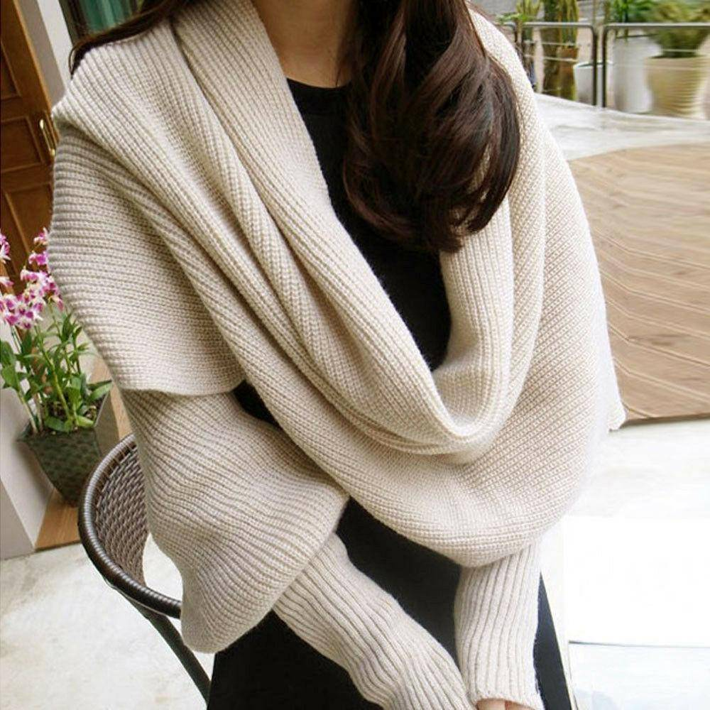 Scarf Shawl with Sleeves