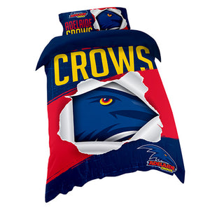Adelaide Crows Single Quilt Cover Set