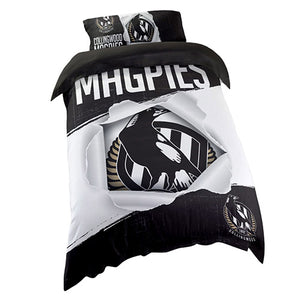 Collingwood Magpies Single Quilt Cover Set