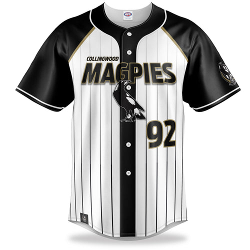 AFL Collingwood Magpies Baseball Shirt