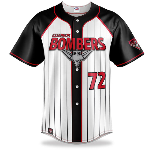 AFL Essendon Bombers Baseball Shirt