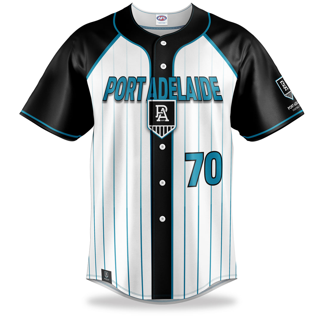 AFL Port Adelaide Baseball Shirt
