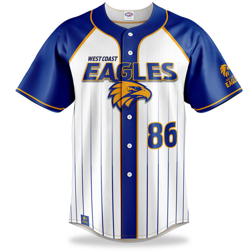 AFL West Coast Eagles Baseball Shirt