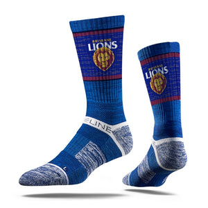 Brisbane Lions Premium Crew Team Socks