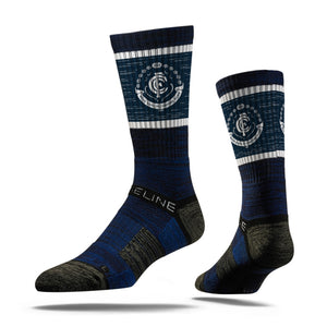 Carlton Blues Premium Crew Team Socks