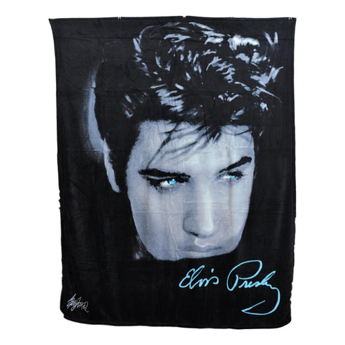Elvis Presley Throw Blanket - Close Up