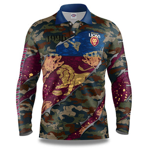 "AFL Brisbane Lions ""Skeletor"" Fishing Shirt"