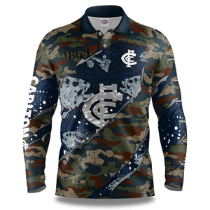 "AFL Carlton ""Skeletor"" Fishing Shirt"