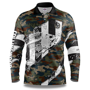 "AFL Collingwood Magpies ""Skeletor"" Fishing Shirt"