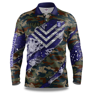 "AFL Fremantle Dockers ""Skeletor"" Fishing Shirt"