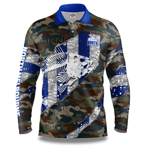 "AFL North Melbourne ""Skeletor"" Fishing Shirt"