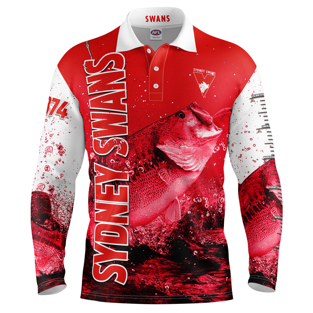 AFL Sydney Swans Fishing Shirt