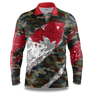 "AFL Sydney Swans ""Skeletor"" Fishing Shirt"
