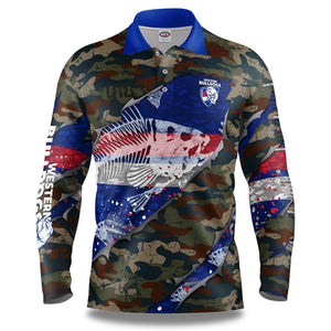 "AFL Western Bulldogs ""Skeletor"" Fishing Shirt"