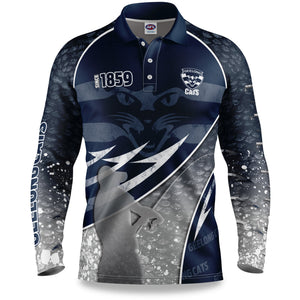 Geelong Cats Fishing Shirt Front