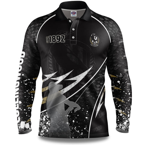 Collingwood Magpies Fishing Shirt Front