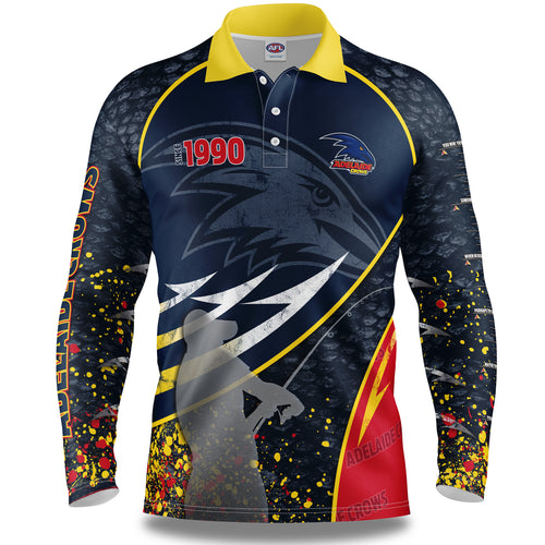 Adelaide Crows Fishing Shirt Front